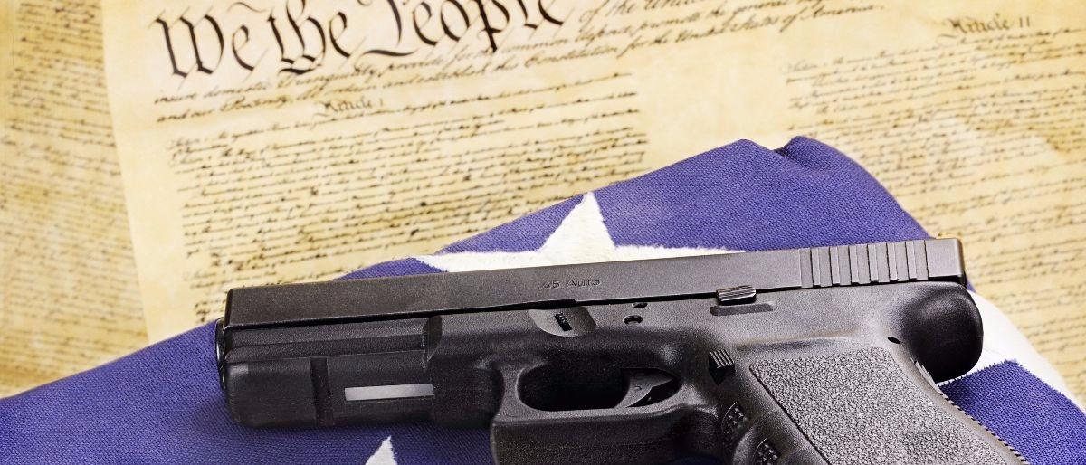 gun flag Second Amendment Constitutional Shutterstock/Stephanie Frey