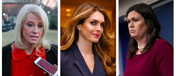 Kellyanne Conway, Hope Hicks, Sarah Sanders (Getty Images)