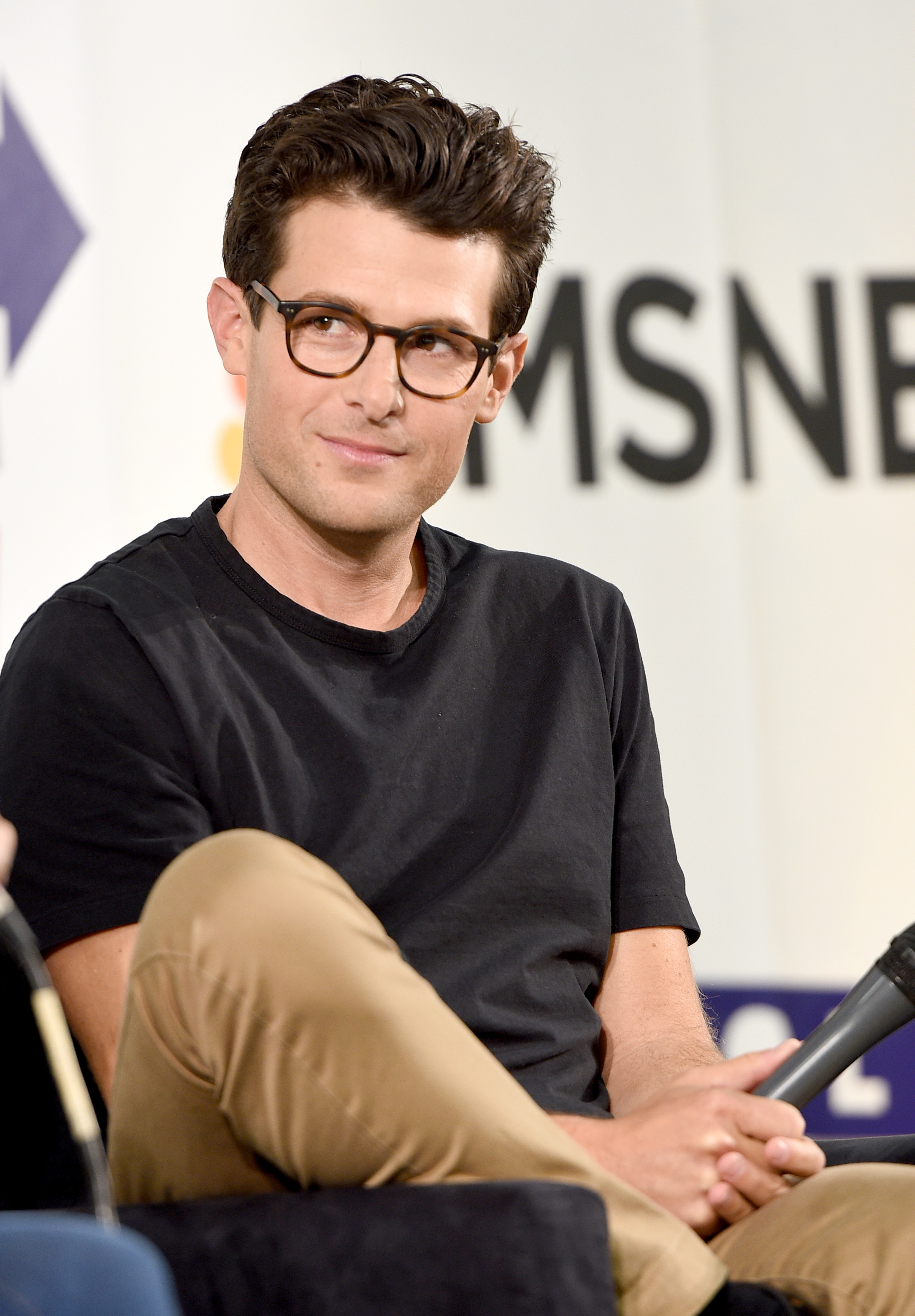 PASADENA, CA - JULY 30: Jacob Soboroff at the 'MSNBC: Lessons From The Road' panel during Politicon at Pasadena Convention Center on July 30, 2017 in Pasadena, California. (Photo by Joshua Blanchard/Getty Images for Politicon)