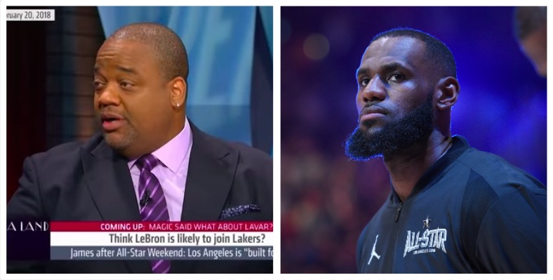 Fox Sports 1 host Jason Whitlock, Cleveland Cavaliers forward LeBron James (YouTube/Getty Images)