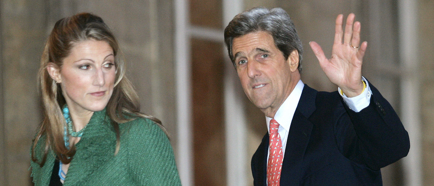 John Kerry and his daughter Vanessa Kerry REUTERS/John Schults