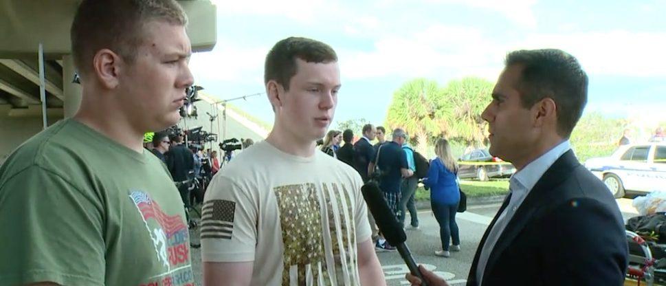 JROTC members Zackary Wells (R) and Colton Haab (L) (ABC News)