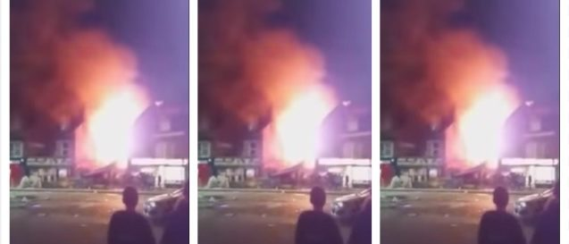 Explosion in Leicester (YouTube)