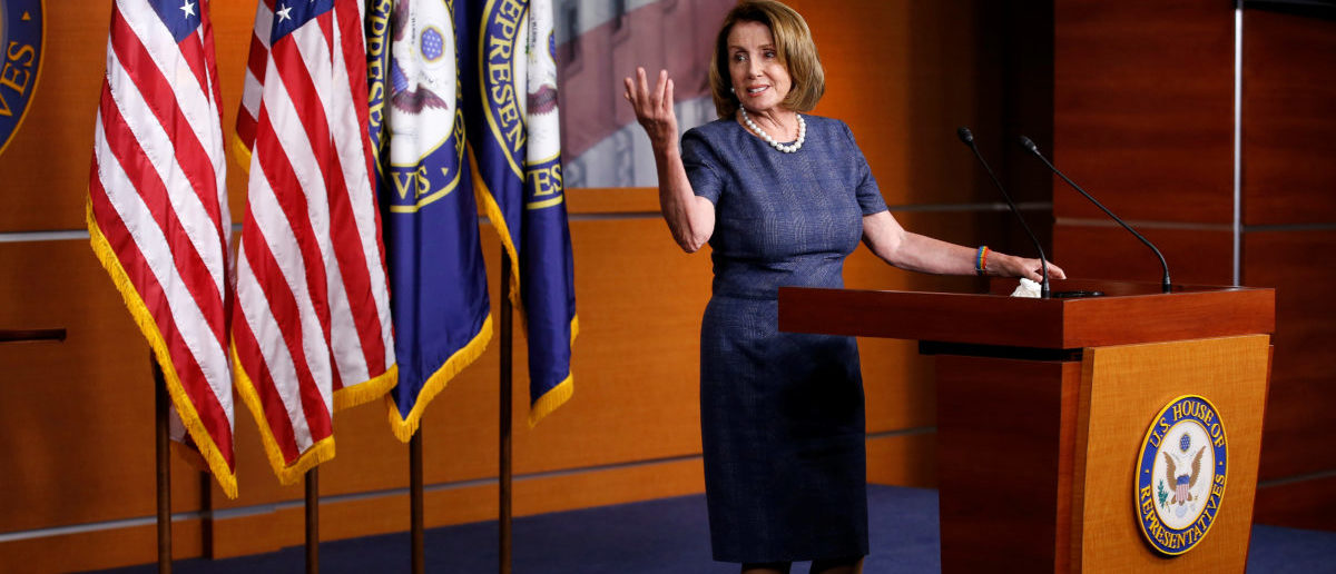 House Minority Leader Nancy Pelosi (D-CA) speaks during a press briefing on Capitol Hill in Washington, U.S., September 7, 2017.   REUTERS/Joshua Roberts