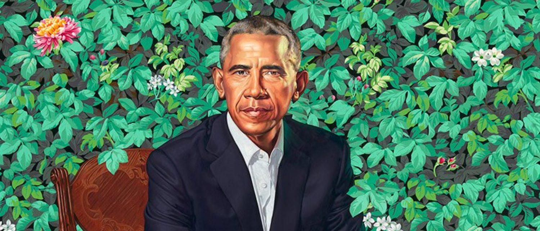 Barack Obama's official portrait. (Kehinde Wiley)