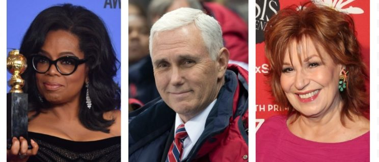 Oprah Winfrey, Mike Pence, Joy Behar (Getty Images)