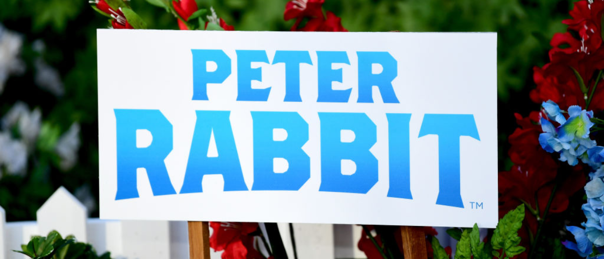WEST HOLLYWOOD, CA - FEBRUARY 02: Signage is seen at the photo call for Columbia Pictures' 'Peter Rabbit' at The London Hotel on February 2, 2018 in West Hollywood, California. (Photo by Emma McIntyre/Getty Images)