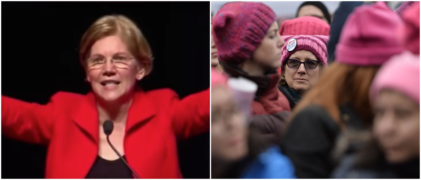 Left: Washington Free Beacon Youtube screenshot Right: ANDREW CABALLERO-REYNOLDS/AFP/Getty Images