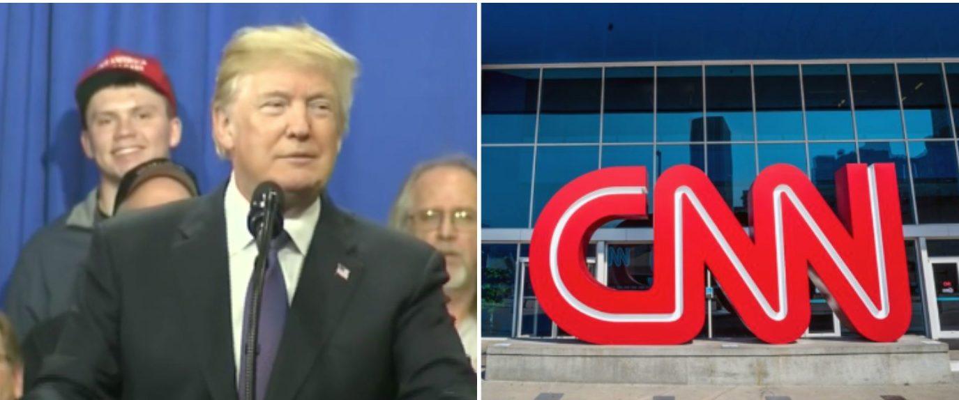 Left: CSPAN screenshot Right: CNN logo shutterstock