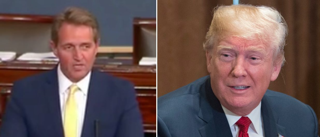 Left: CSPAN2 screenshot Right: Photo by Chris Kleponis-Pool/Getty Images