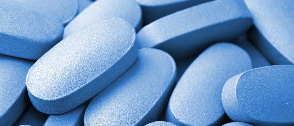 Blue pills (Photo via Shutterstock)