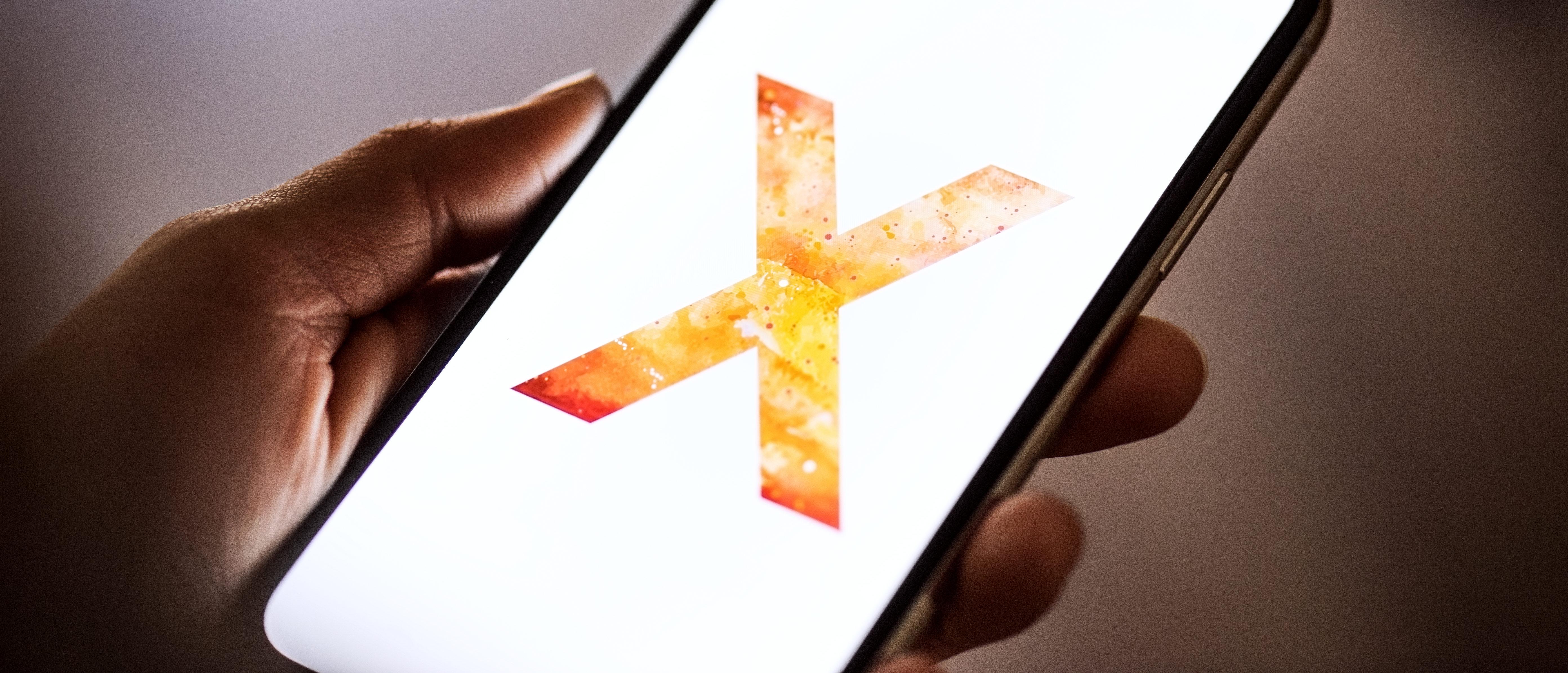 New Apple iPhone X smartphone.