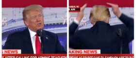 Hair To The Chief! Trump Kicks Off CPAC Speech Joking About His Hair