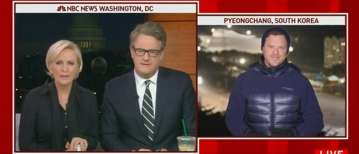 Screenshot 'Morning Joe' Mocks Willie Geist's Jacket (MSNBC: Feb 14, 2018)