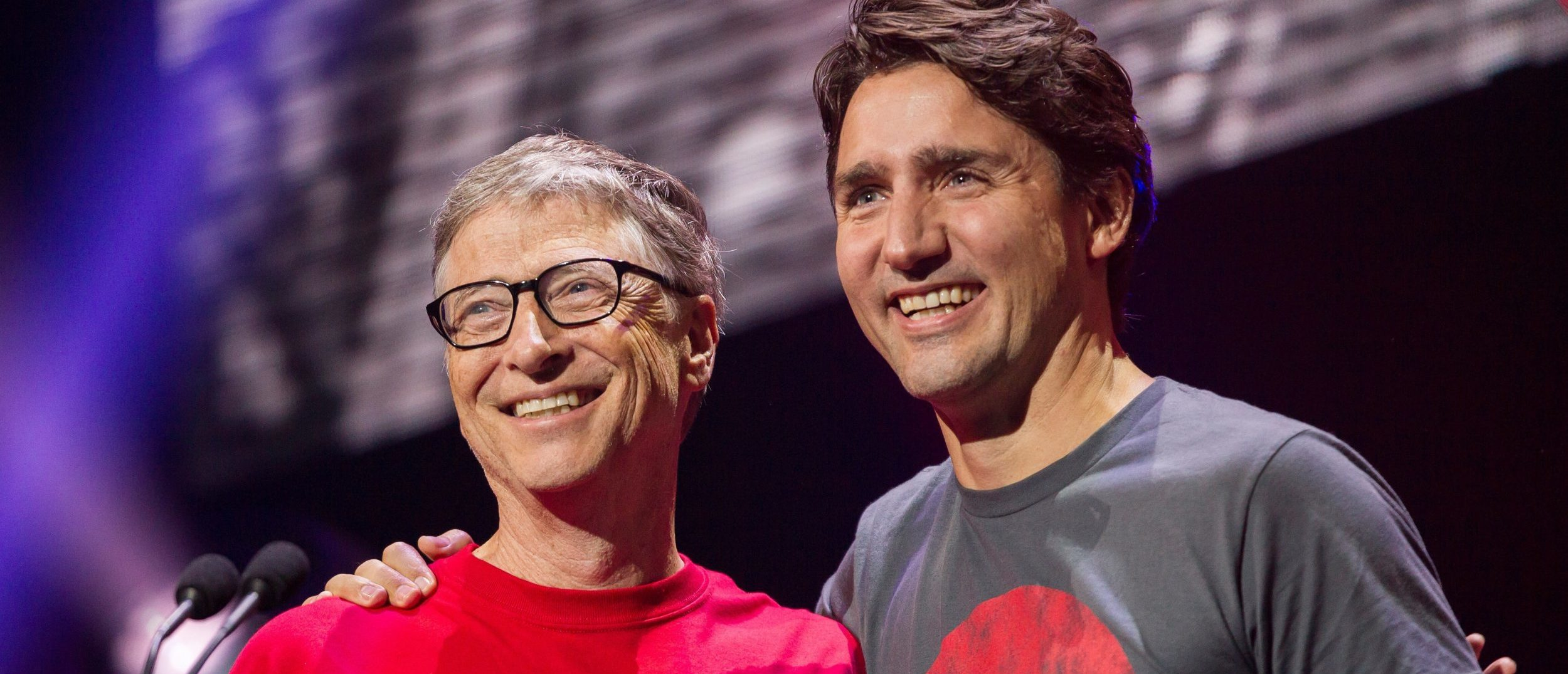 Billionaire philanthropist Bill Gates receives a hug from Canadian Prime Minister Justin Trudeau at the Global Citizen Concert to End AIDS, Tuberculosis and Malaria in Montreal, Quebec, Canada September 17, 2016. REUTERS/Geoff Robins/POOL