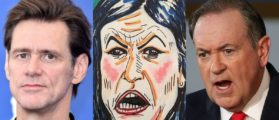 Jim Carrey Attacks Sarah Sanders' Looks And Religion – Then Daddy Huck Steps In