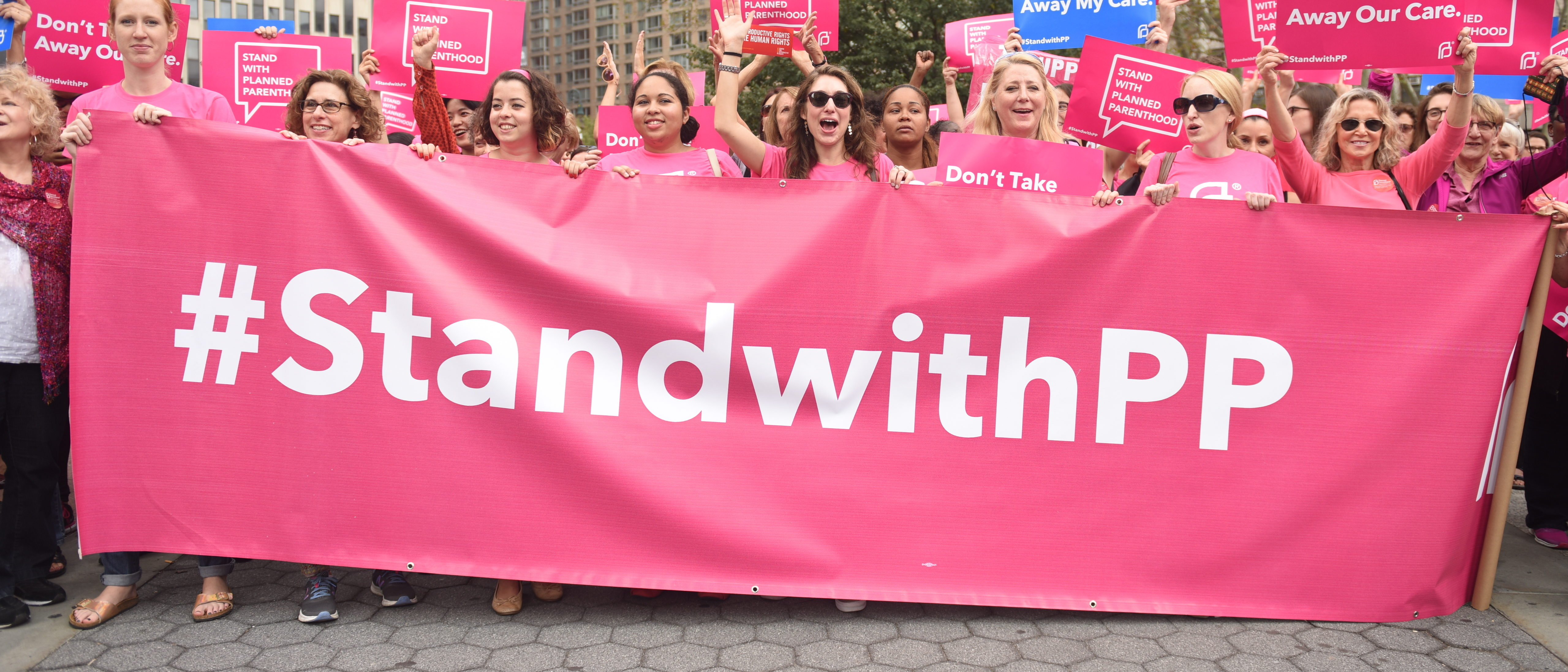 Activists and directors of Planned Parenthood, NYC (Shutterstock/ a Katz)