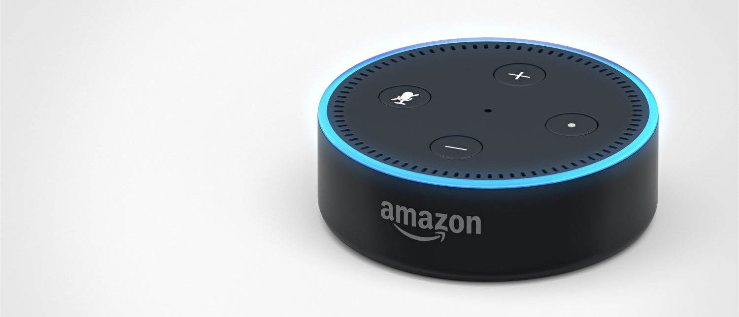 Amazon Echo Dot 2, Alexa Voice Service activated recognition system. [Shutterstock - pianodiaphragm]