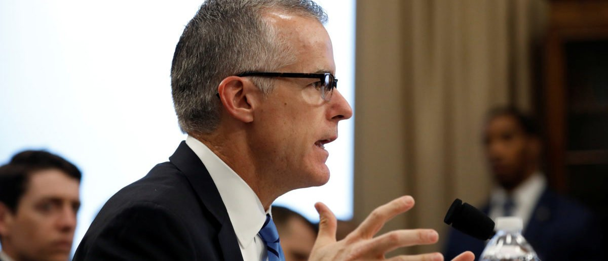 Acting FBI Director Andrew McCabe testifies before the House Commerce, Justice, Science, and Related Agencies Subcommittee on Capitol Hill in Washington, U.S., June 21, 2017. REUTERS/Aaron P. Bernstein