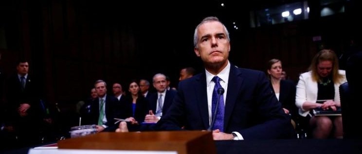 Acting FBI Director Andrew McCabe waits to testify before the U.S. Senate Select Committee on Intelligence on Capitol Hill in Washington, U.S. May 11, 2017. REUTERS/Eric Thayer