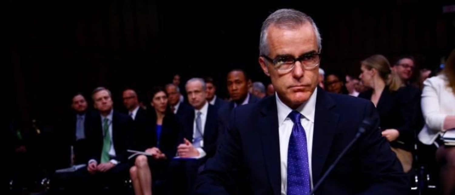 FBI Now Wants McCabe Fired  Days Before Retirement