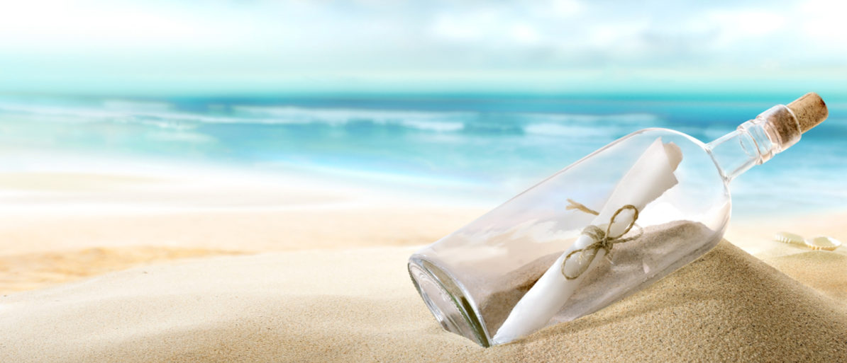 The oldest known message in a bottle was found on an Australian beach, the Australian Broadcasting Corporation reported. Shutterstock/ Silvae