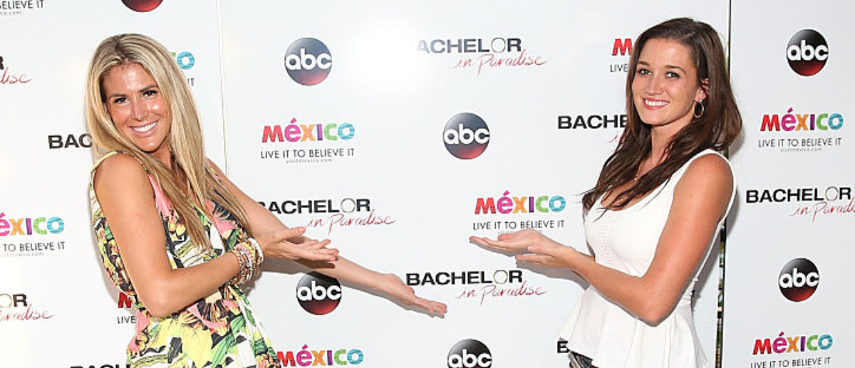 LOS ANGELES, CA - AUGUST 02: Juelia Kinney and Jade Roper attend the 'Bachelor In Paradise' Returns To Mexico For Season 2 Premiere Party at Mixology101 on August 2, 2015 in Los Angeles, California. The popular summer series airs Sunday and Monday nights on ABC at 8pm. (Photo by Jesse Grant/Getty Images for Leisure Opportunities)