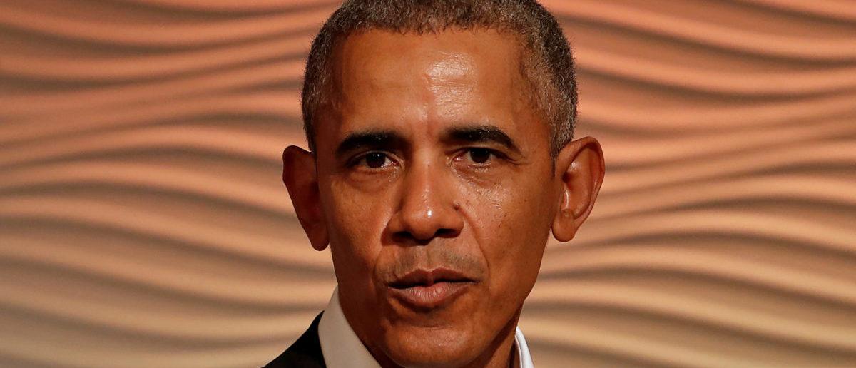 Former U.S. President Barack Obama speaks during a Leadership Summit in Delhi, India, December 1, 2017. REUTERS/Cathal McNaughton