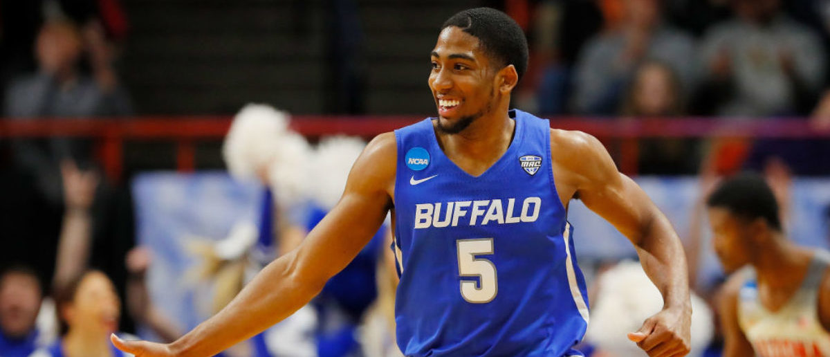 BOISE, ID - MARCH 15: CJ Massinburg #5 of the Buffalo Bulls reacts in the second half against the Arizona Wildcats during the first round of the 2018 NCAA Men's Basketball Tournament at Taco Bell Arena on March 15, 2018 in Boise, Idaho. (Photo by Kevin C. Cox/Getty Images)