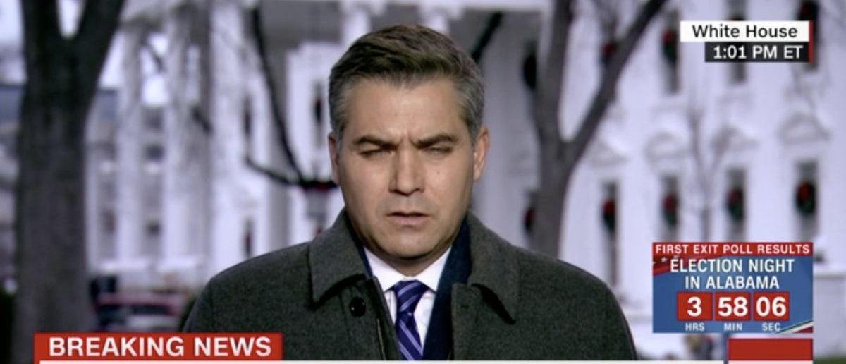 CNN journalist Jim Acosta, seen not covering the Democratic Farrakhan scandal. [Video screenshot/CNN]