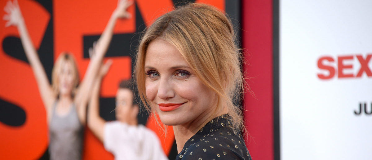 WESTWOOD, CA - JULY 10:  Actress Cameron Diaz attends premiere of Columbia Pictures' 'Sex Tape' at Regency Village Theatre on July 10, 2014 in Westwood, California.  (Photo by Jason Merritt/Getty Images)