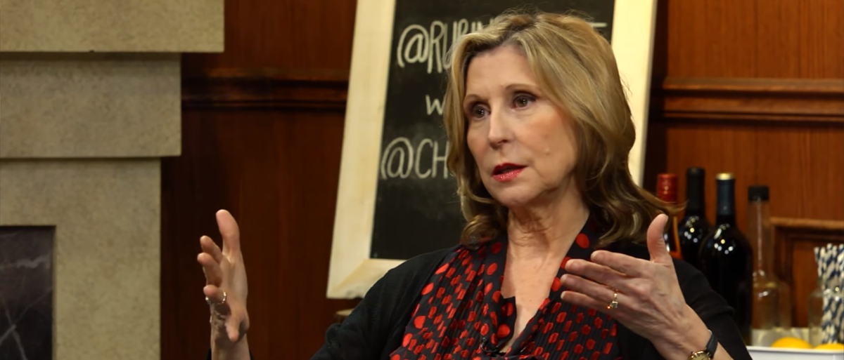 Christina Hoff Sommers hashes free speech, feminism, and #GamerGate with talk show host Dave Rubin. (Photo Credit: YouTube/The Rubin Report)