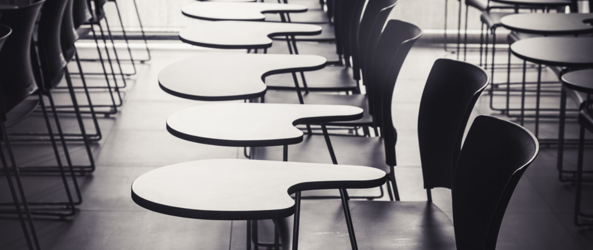 Pictured is an empty classroom | Shutterstock/VTT Studio | Superintendent: Metal Detectors Not Used