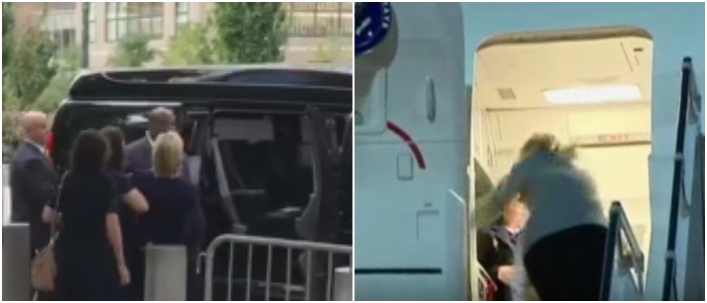Clinton screenshots Left: CNN Youtube screenshot Right: Associated Press Youtube screenshot