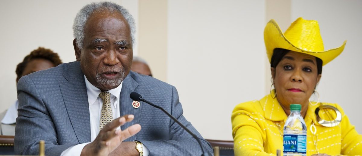 Rep. Danny Davis (L), D-IL, co-chair of the Congressional Caucus on Black Men and Boys, speaks during a hearing on the status of black males at in the Rayburn House Office Building on July 24, 2013 on Capitol Hill in Washington, DC. At right is Rep Frederica Wilson, D-FL. MANDEL NGAN/AFP/Getty Images)