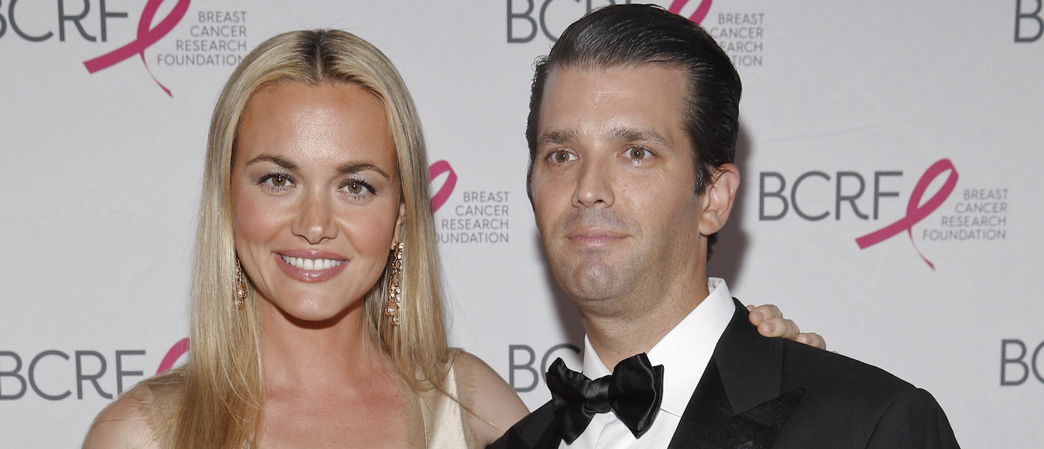Vanessa Trump and Donald Trump, Jr. are seen during the The Breast Cancer Research Foundation 2015 Pink Carpet Party (Photo: Brian Ach/Getty Images)