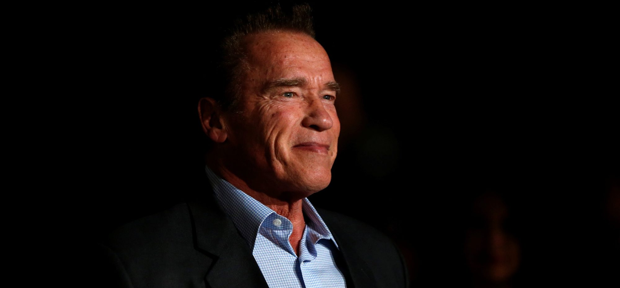 "Actor Arnold Schwarzenegger poses at a premiere for ""The 15:17 to Paris"" in Burbank, California, February 5, 2018. REUTERS/Mario Anzuoni"