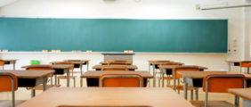 Pictured is an empty classroom. (Shutterstock/maroke)