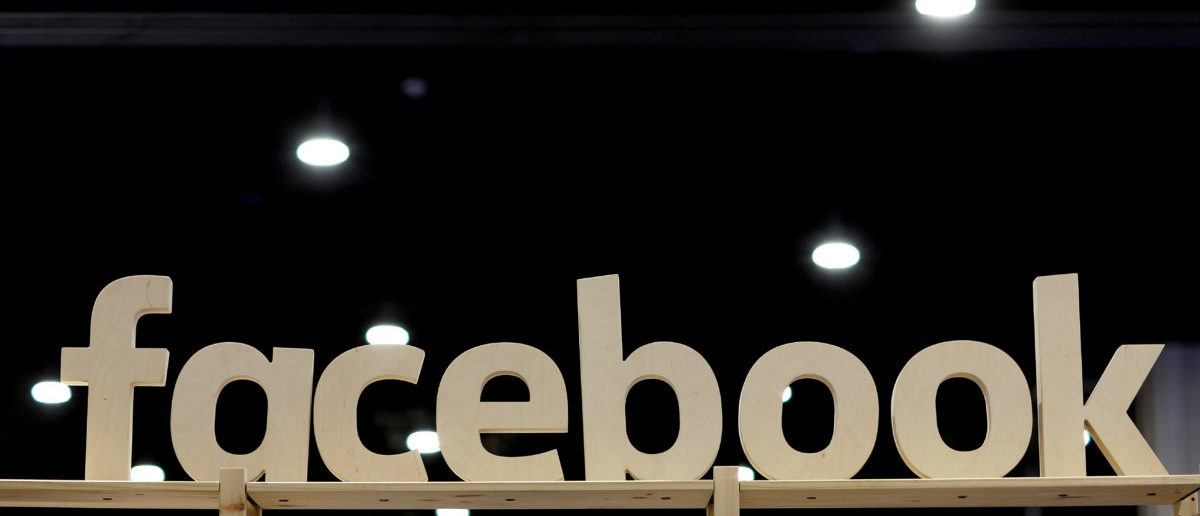 FILE PHOTO: A Facebook sign is displayed at the Conservative Political Action Conference (CPAC) at National Harbor, Maryland, U.S., February 23, 2018. REUTERS/Joshua Roberts