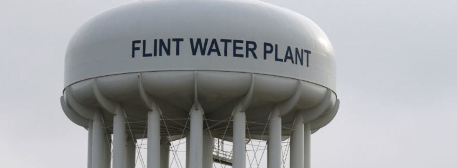 FILE PHOTO: The Flint Water Plant tower is seen in Flint, Michigan, U.S. on February 7, 2016. REUTERS/Rebecca Cook/File Photo | Mich Official Body Slams Flint Activist