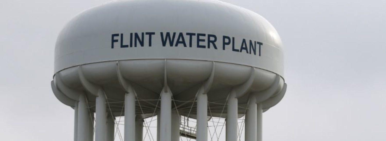 The Flint Water Plant tower is seen in Flint, Michigan, U.S. on Feb. 7, 2016. REUTERS/Rebecca Cook