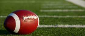 American Football on the Field near the hashmarks or yard lines (SHUTTERSTOCK: By David Lee)