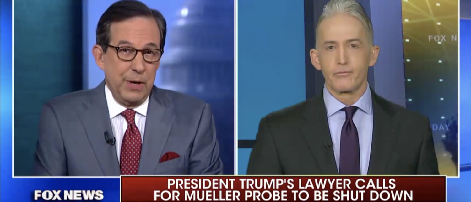 GOP Rep. Trey Gowdy appears on Fox News Sunday on Mar. 18. (Screenshot/Fox News)