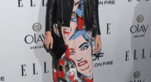 Wilde sports an edgy look for ELLE's 6th Annual Women in Television Dinner. (Photo: Jason Kempin/Getty Images)
