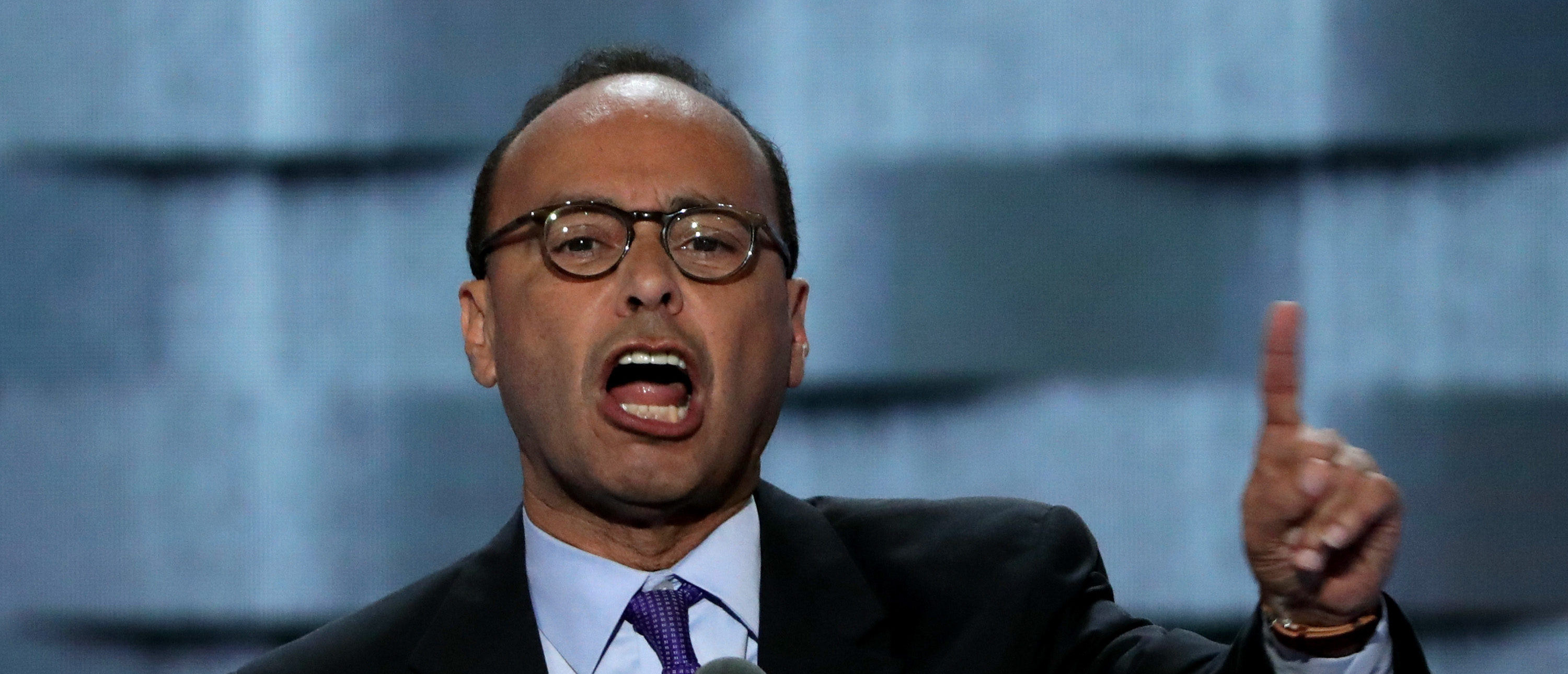 PHILADELPHIA, PA - JULY 25: Rep. Luis Gutiérrez (D-Ill) delivers remarks on the first day of the Democratic National Convention at the Wells Fargo Center, July 25, 2016 in Philadelphia, Pennsylvania. An estimated 50,000 people are expected in Philadelphia, including hundreds of protesters and members of the media. The four-day Democratic National Convention kicked off July 25. (Photo by Alex Wong/Getty Images)