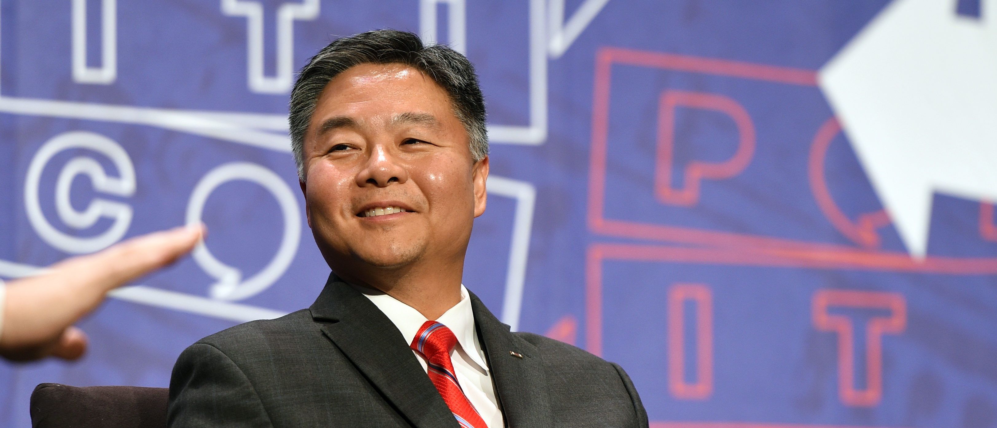 PASADENA, CA - JULY 30: Ted Lieu at the 'From Russia With Trump' panel during Politicon at Pasadena Convention Center on July 30, 2017 in Pasadena, California. (Photo by Joshua Blanchard/Getty Images for Politicon)