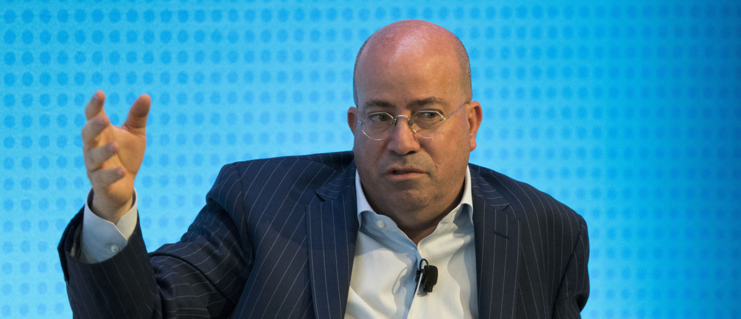 Jeff Zucker, President of CNN, is interviewed during a Financial Times Future of News event March 22, 2018 in New York. / AFP PHOTO / Don EMMERT (Photo: DON EMMERT/AFP/Getty Images)