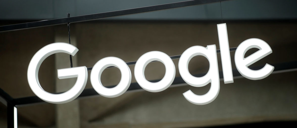 "The Google logo is seen at the ""Station F"" start up campus in Paris, France, February 15, 2018. REUTERS/Benoit Tessier"