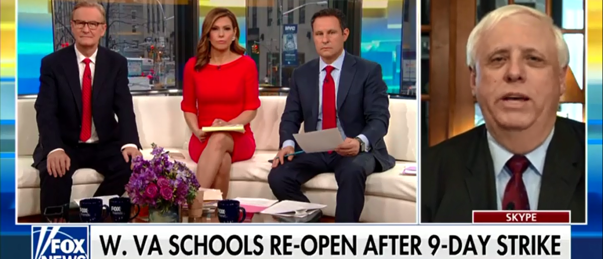 Gov. Jim Justice Defends Raise For Teachers And Claims It Wasn't A Union Shakedown - Fox & Friends 3-7-18