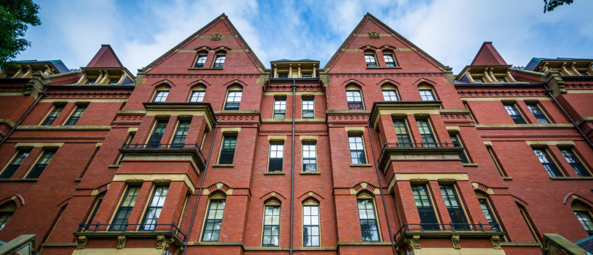 Pictured is the Matthews Hall at Harvard University. (Shutterstock/Jon Bilous)